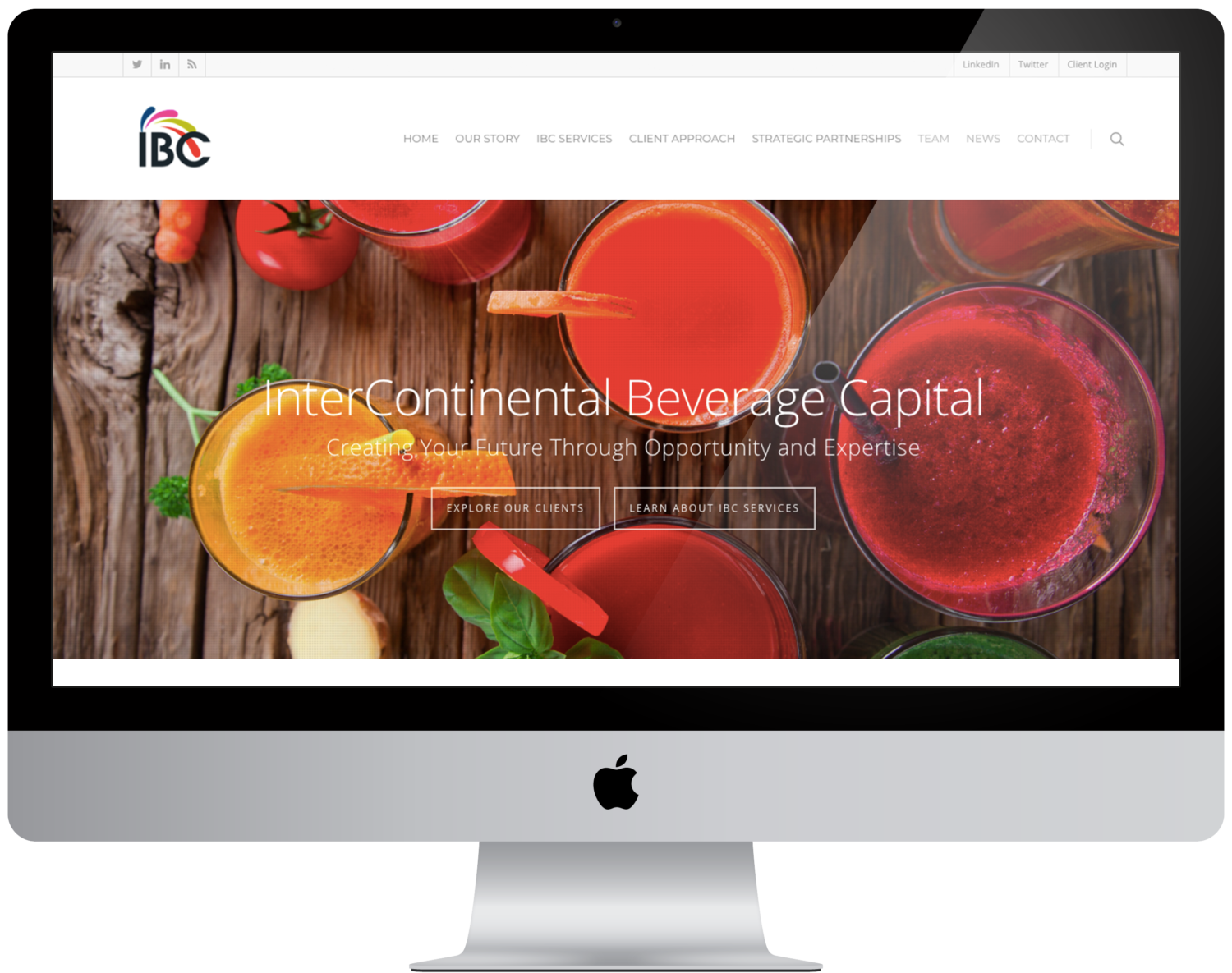Sinuate Media -web design for IBC - Example Web Design